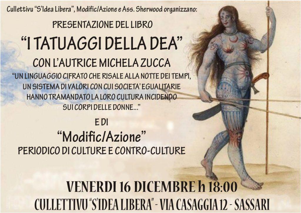 """Presentazione del libro """"I TATUAGGI DELLA DEA"""" con l autrice Michela Zucca  e di """"Modific Azione"""" periodico di culture e contro-culture 5f00c6908f3e"""