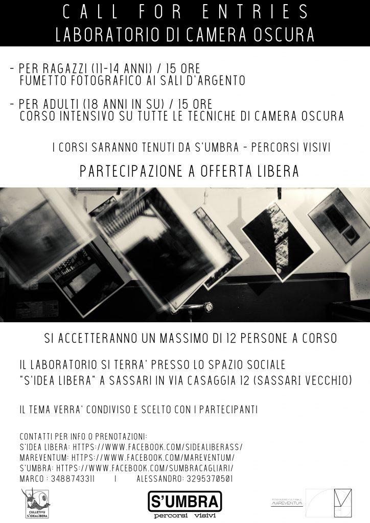 5dbd45285b6d CALL FOR ENTRIES – LABORATORIO DI CAMERA OSCURA